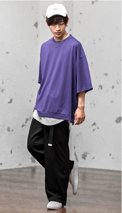 ビッグTシャツ+ワイドパンツ