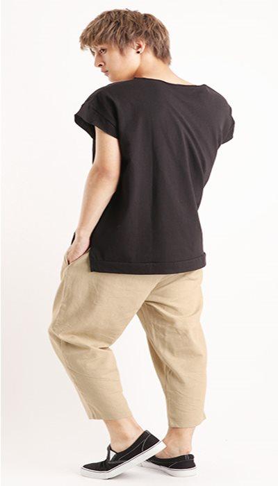 Tシャツ+ワイドパンツ